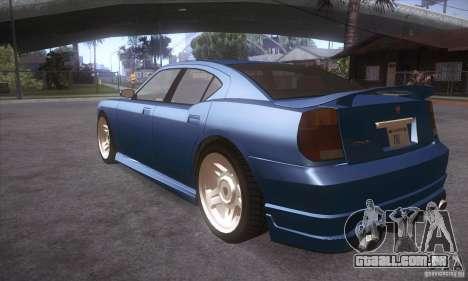 GTA IV Buffalo para GTA San Andreas traseira esquerda vista