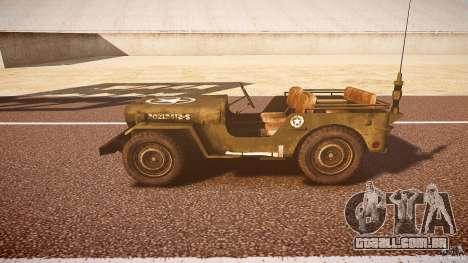 Walter Military (Willys MB 44) v1.0 para GTA 4 esquerda vista