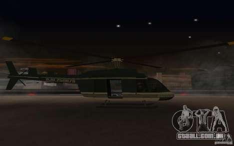 GTA IV Maverick para GTA San Andreas traseira esquerda vista