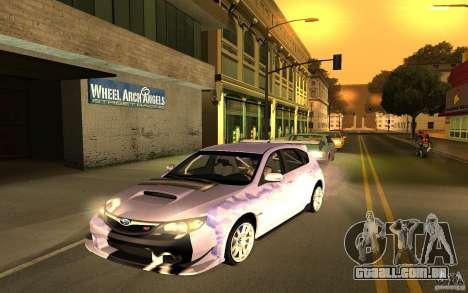 Subaru Impreza WRX STI 2008 Tunable para GTA San Andreas esquerda vista