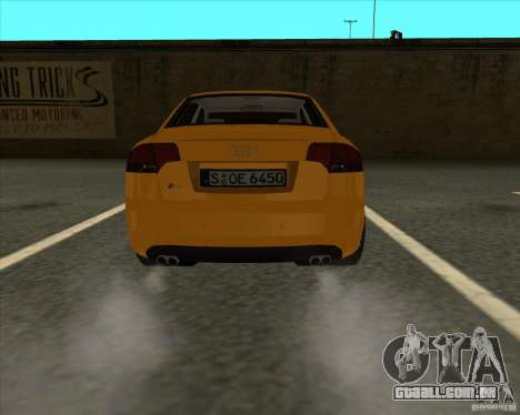 AUDI S4 Sport para GTA San Andreas traseira esquerda vista