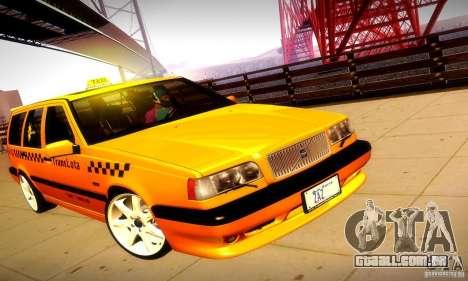 Volvo 850 R Taxi para GTA San Andreas