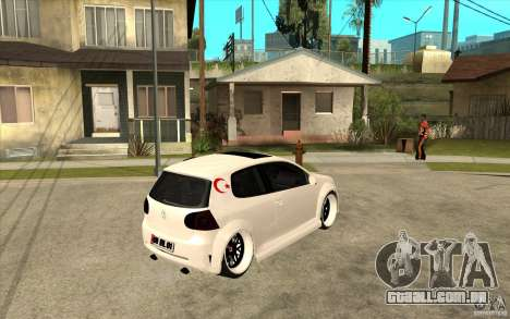 VW Golf 5 GTI Tuning para GTA San Andreas vista direita