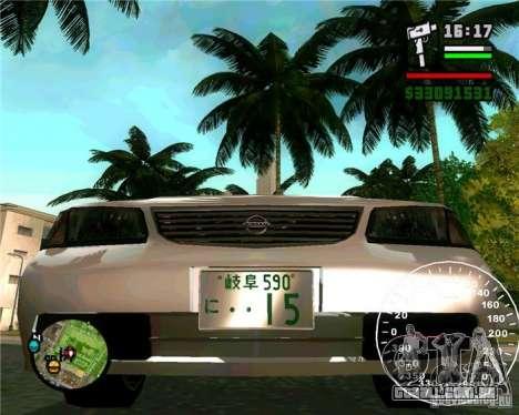 Nissan Sunny para GTA San Andreas vista direita