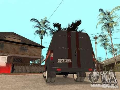 Serviço de gás gazela 2705 para GTA San Andreas vista direita