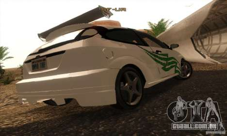 Ford Focus SVT TUNEABLE para vista lateral GTA San Andreas