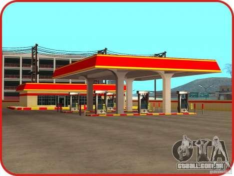 Novo posto de gasolina Shell para GTA San Andreas terceira tela