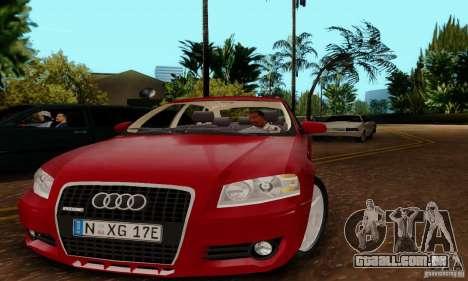 Audi A3 Sportback 3.2 Quattro para GTA San Andreas traseira esquerda vista