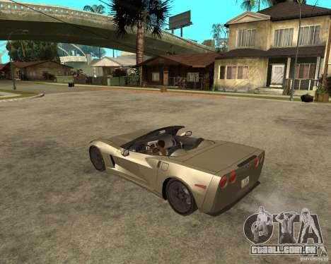 2005 Chevy Corvette C6 para GTA San Andreas esquerda vista