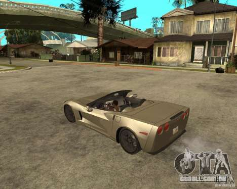 2005 Chevy Corvette C6 para GTA San Andreas