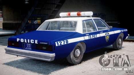 Chevrolet Impala Police 1983 [Final] para GTA 4 vista direita