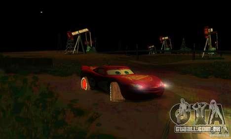 MCQUEEN from Cars para GTA San Andreas vista inferior