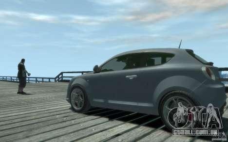 Alfa Romeo Mito para GTA 4 traseira esquerda vista