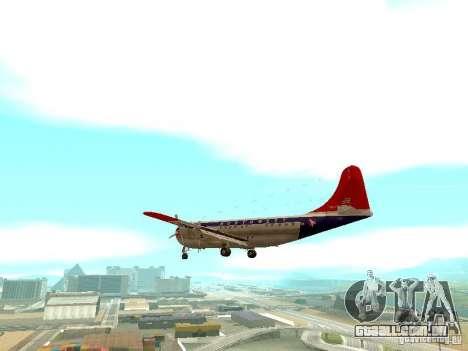 Boeing 377 Stratocruiser para GTA San Andreas traseira esquerda vista