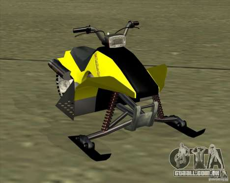 Snowmobile para GTA San Andreas traseira esquerda vista