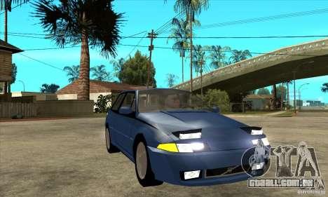 Volvo 480 Turbo para GTA San Andreas vista traseira