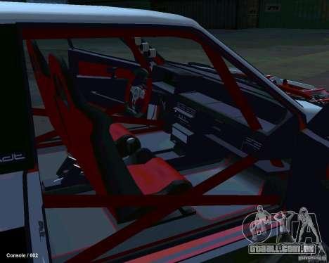 VAZ 2108 Drag para GTA San Andreas vista interior