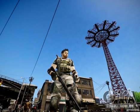 Chris from Resident Evil 5 para GTA 4 terceira tela