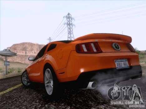 Ford Shelby Mustang GT500 2010 para GTA San Andreas esquerda vista