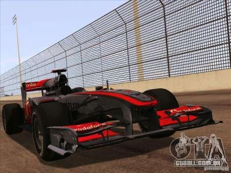 McLaren MP4-25 F1 para GTA San Andreas