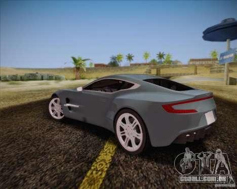 Aston Martin One-77 para GTA San Andreas vista direita