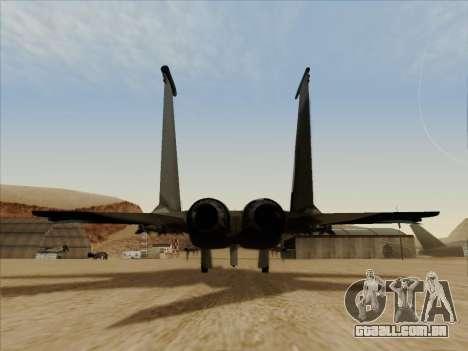 F-15C para GTA San Andreas vista direita