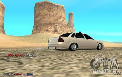 Lada Priora Final Tuning para GTA San Andreas esquerda vista