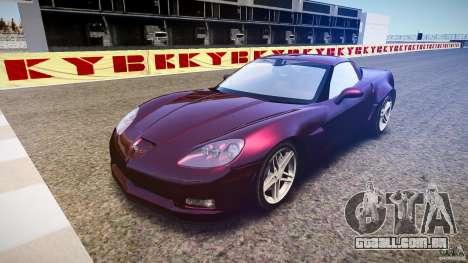 Chevrolet Corvette C6 Z06 para GTA 4 vista de volta