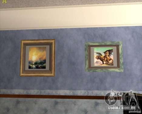 Pinturas da casa CJ para GTA San Andreas por diante tela