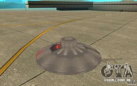 UFO Atack para GTA San Andreas traseira esquerda vista