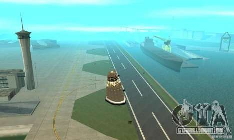 Dalek Doctor Who para GTA San Andreas vista interior