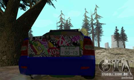 LADA 2170 JDM para GTA San Andreas vista traseira