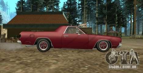 Eon SabreTaur Picador para GTA San Andreas traseira esquerda vista