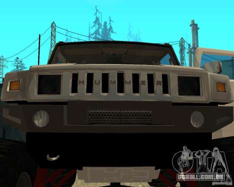 Hummer H2 MONSTER para vista lateral GTA San Andreas