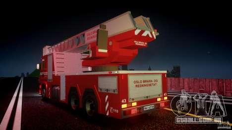Scania Fire Ladder v1.1 Emerglights red [ELS] para GTA 4 rodas