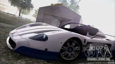 Maserati MC12 V1.0 para GTA San Andreas vista superior