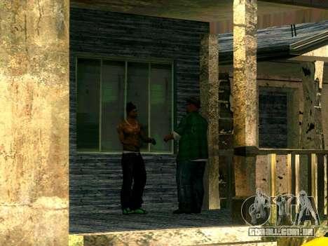 Amigos do CJ no Grove para GTA San Andreas terceira tela