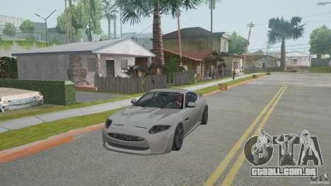 Jaguar XKR-S para GTA San Andreas esquerda vista