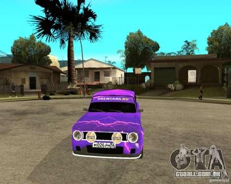 Porta dupla 2101 VAZ para GTA San Andreas vista traseira