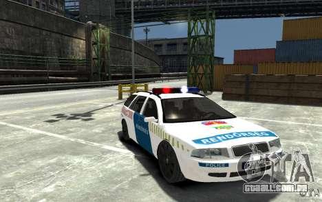 Skoda Octavia Kombi 2005 Hungarian Police para GTA 4 vista de volta