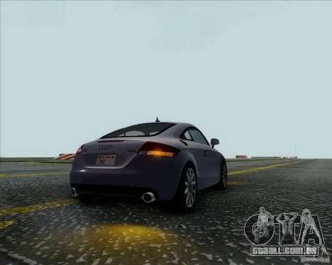 Audi TT para GTA San Andreas vista traseira