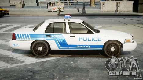 Ford Crown Victoria CVPI-V4.4M [ELS] para GTA 4 vista de volta