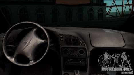 Mitsubishi Eclipse GSX 1999 para GTA San Andreas vista traseira