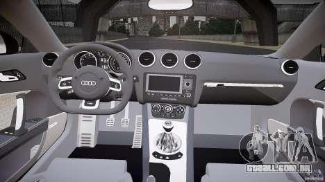 Audi TT RS v3.0 2010 para GTA 4 vista de volta