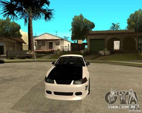 2003 Ford Mustang GT Street Drag para GTA San Andreas vista traseira