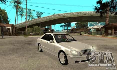 Mercedes Benz S600 para GTA San Andreas vista traseira