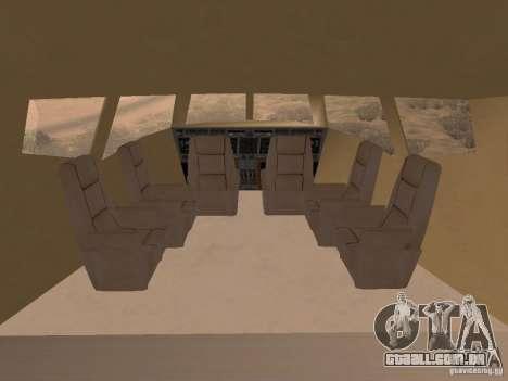 AT400 with full Interior para GTA San Andreas traseira esquerda vista