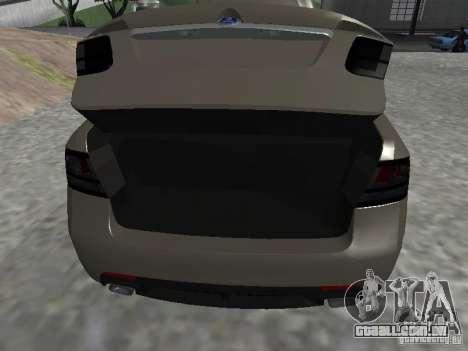 Saab 9-3 Turbo X para GTA San Andreas vista traseira