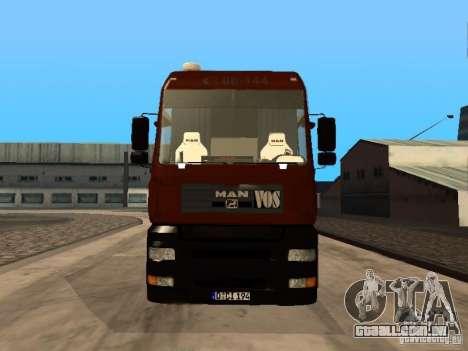 MAN TGA Vos Logistics para GTA San Andreas esquerda vista