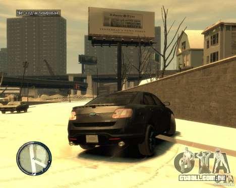 Ford Taurus Police Interceptor Stealth para GTA 4 traseira esquerda vista